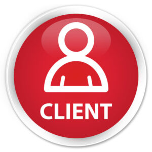 56888737 - client (member icon) red glossy round button